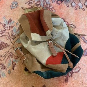 Urban outfitters patchwork suede backpack